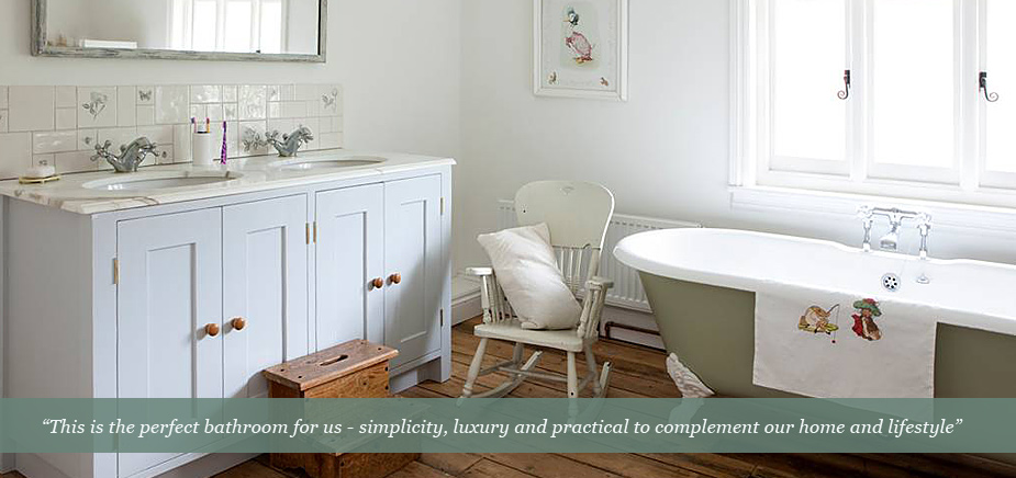 Neptune Chichester bathrooms and Surrey Furniture bespoke bathrooms